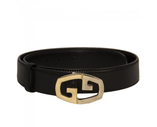 Gucci Cinturón Negro T 85