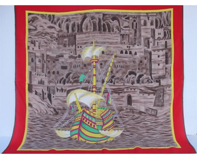 Loewe pañuelo Barco en el Puerto