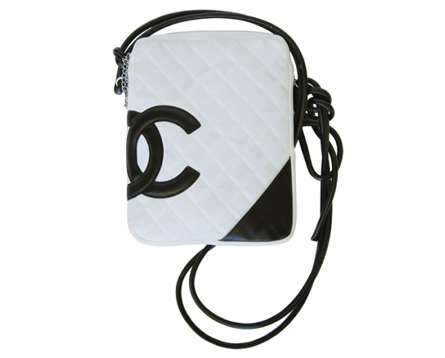 Chanel Cambon Messenger blanco