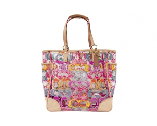 Coach Bolsa Clear Multicolor