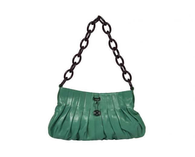 DKNY bolso de cadena verde