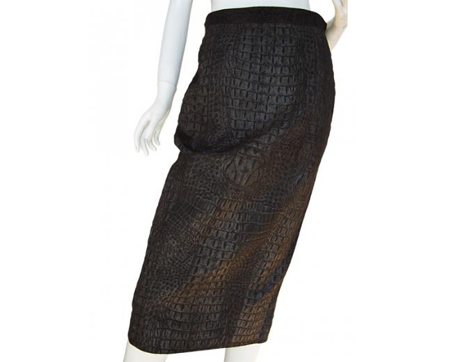 Celine falda piel T 40