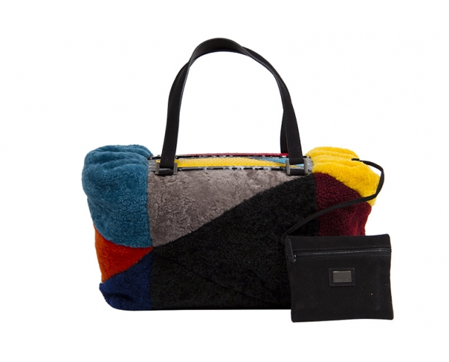 Fendi Bauletto Mouton Multicolor