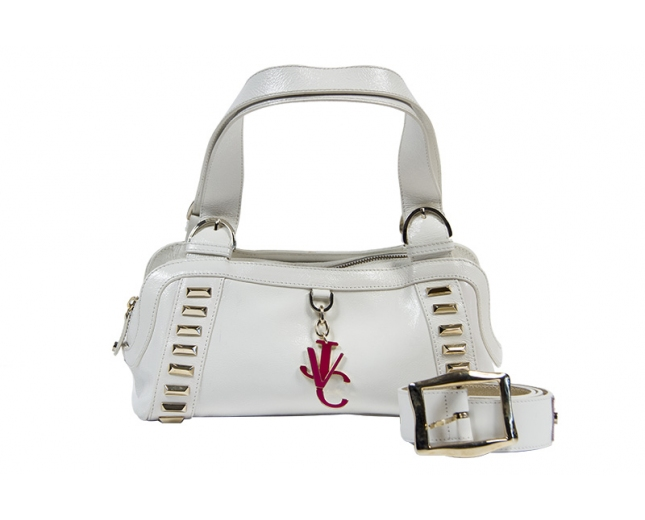 Versace Bolso Blanco Charol