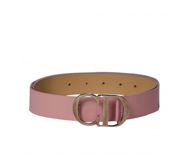Dior Cinturón Piel Rosa T 75