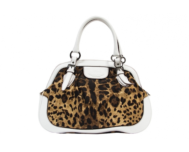 D&G Bolso Knitting Canvas Leopardo