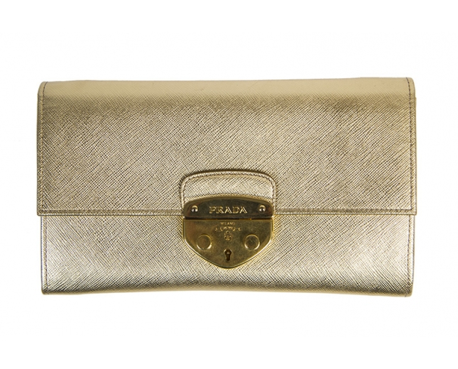 Prada Clutch Chain Gold