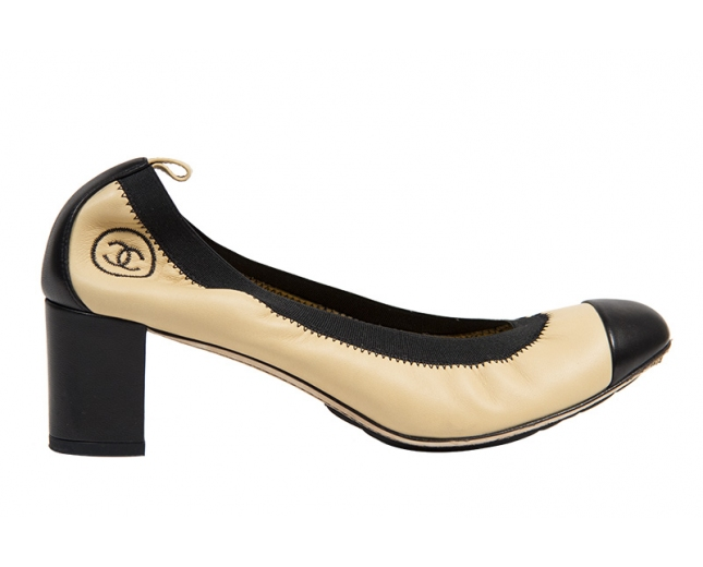 Chanel Zapatos Bicolor T 39.5
