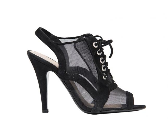 Chanel Sandalias Negras T 37