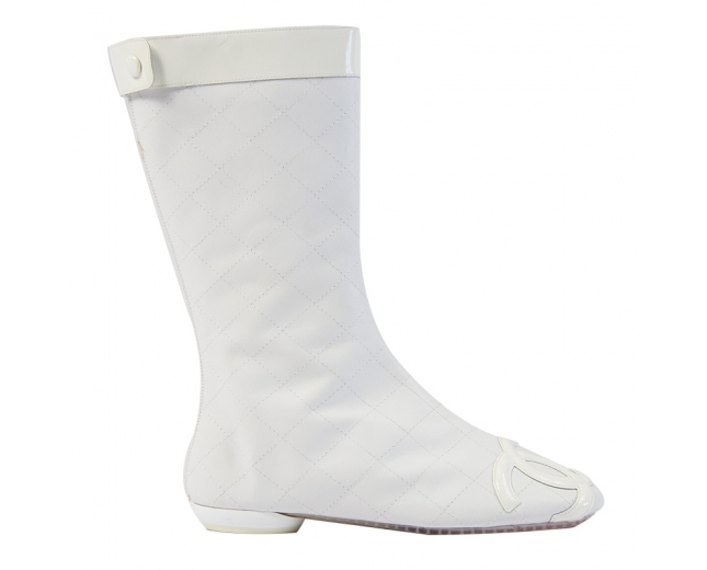 Chanel Botas Cambon Blancas T 38
