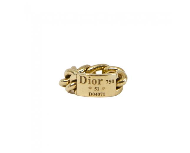 Dior Sortija Gourmette Oro