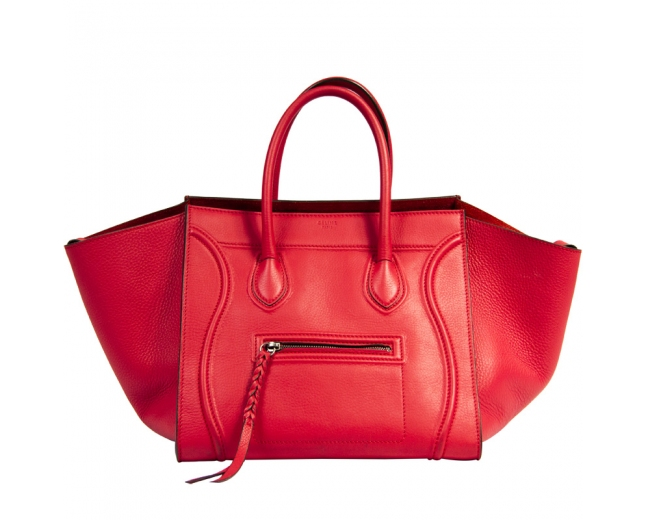 Céline Phantom Luggage Rojo