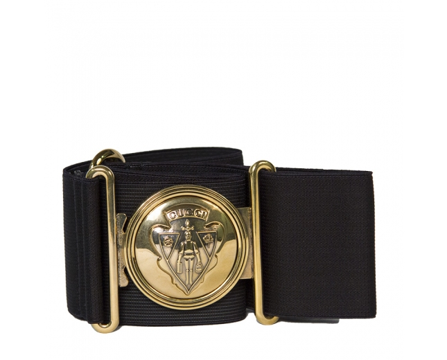 Gucci Cinturón Negro Elástico T 75/80