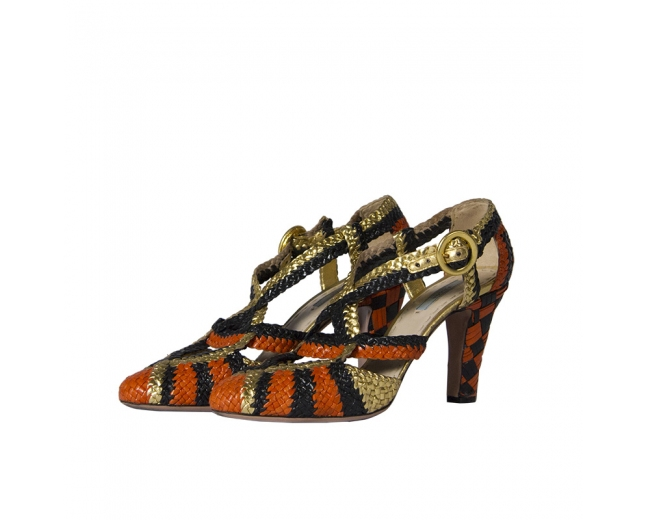 Prada zapato trenzado naranja T 39