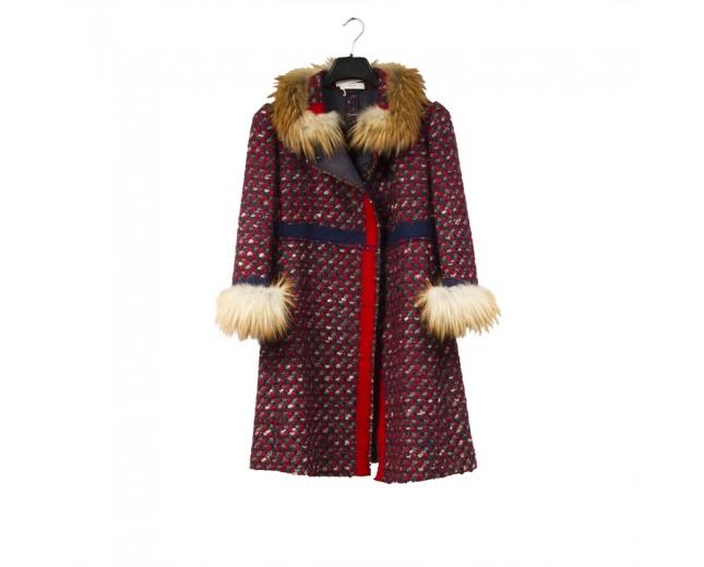 Prada Abrigo Tweed T 36