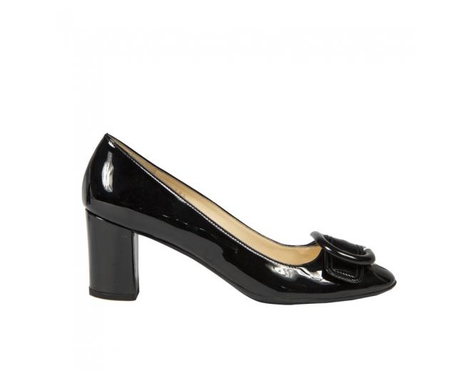 Prada Zapatos Charol Negros T 38.5