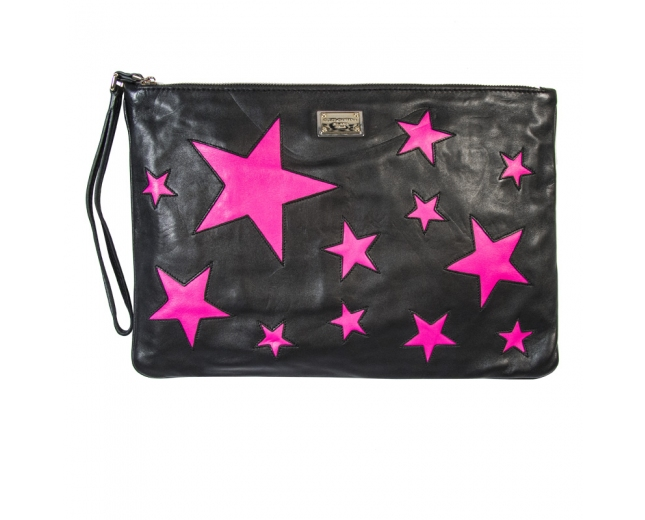 D&G Clutch Negro Estrellas