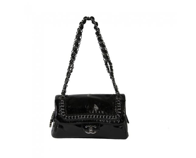 Chanel Bolso Charol Negro