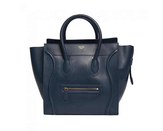 Celine Luggage Azul