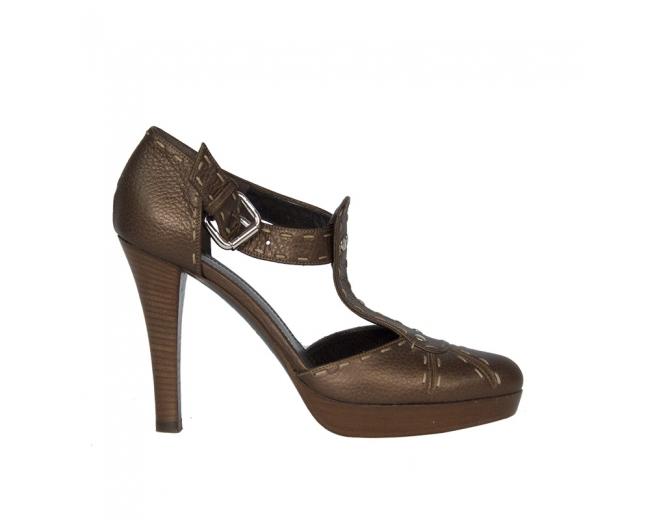 Fendi Zapatos D´Orsay Marrón T 38