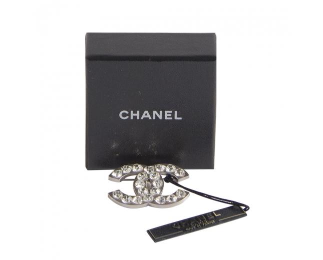 Chanel Broche Cristal Corazones