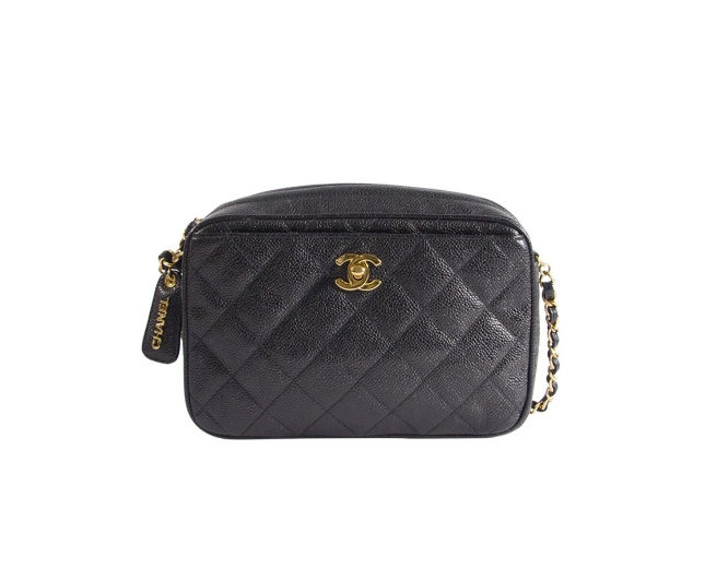 Chanel Bolso Camera Quilted Negro