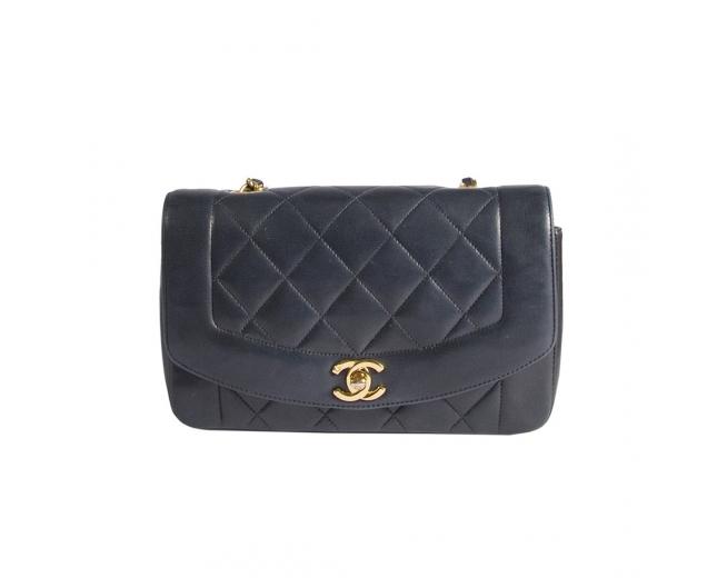 Chanel Bolso Diana Vintage Navy