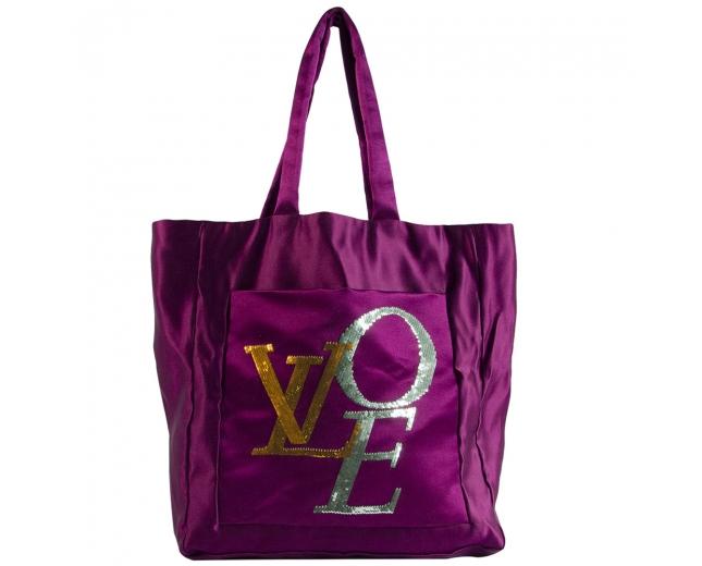 LV Love Satén Bolso Púrpura