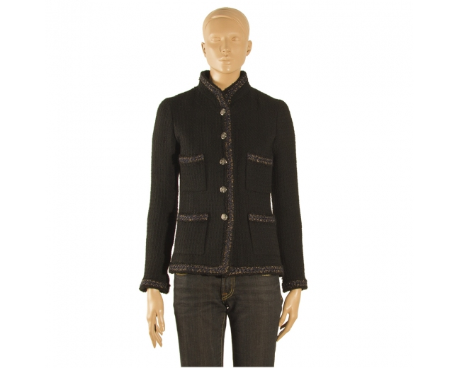 Chanel Tweed Blazer NegraT 36