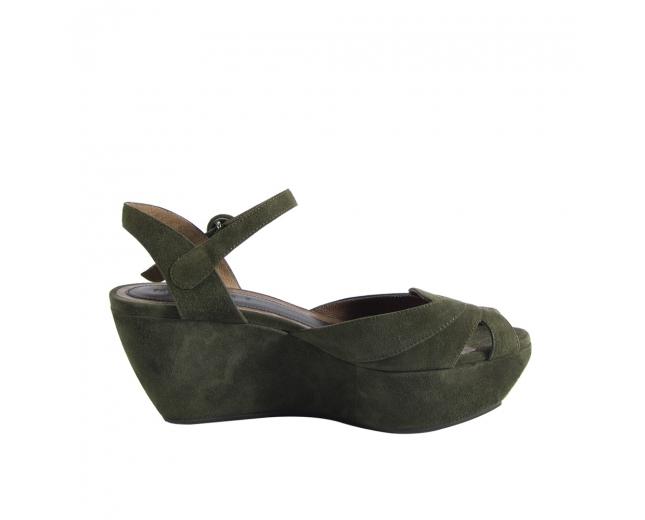 Marni Sandalias de Ante Verde T 37