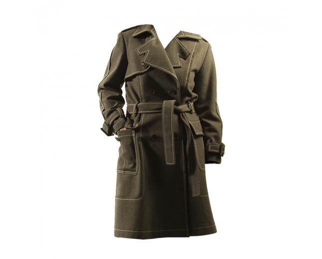 Dior Abrigo Trench Verde T 38