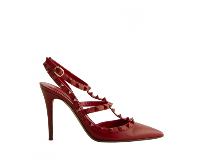 Valentino Zapatos Rockstud Rojos T 40