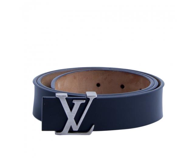 LV Cinturón Negro 30 MM  Iniciales T 85