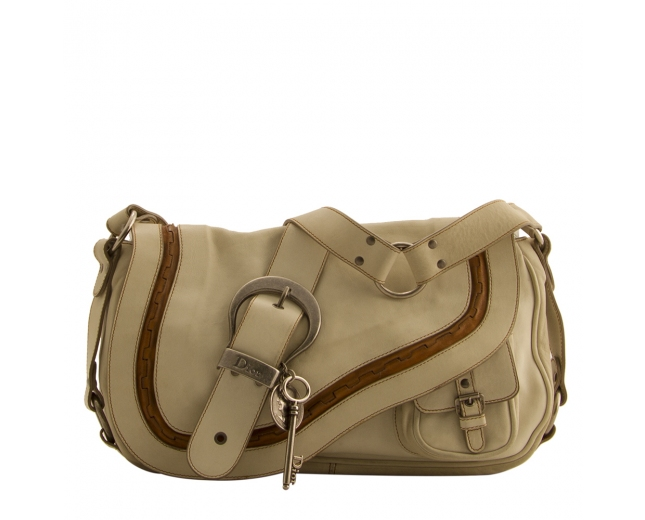Dior Saddle Gaucho Blanco