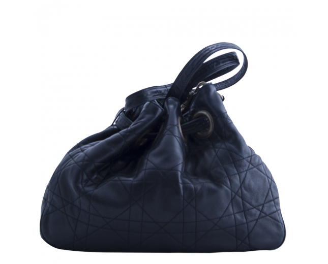 Dior Bolso Saco Cannage Negro