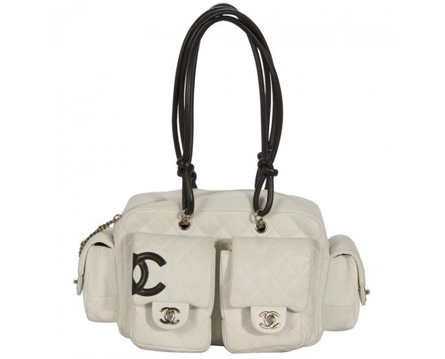Chanel Bolso Mini Reporter Blanco