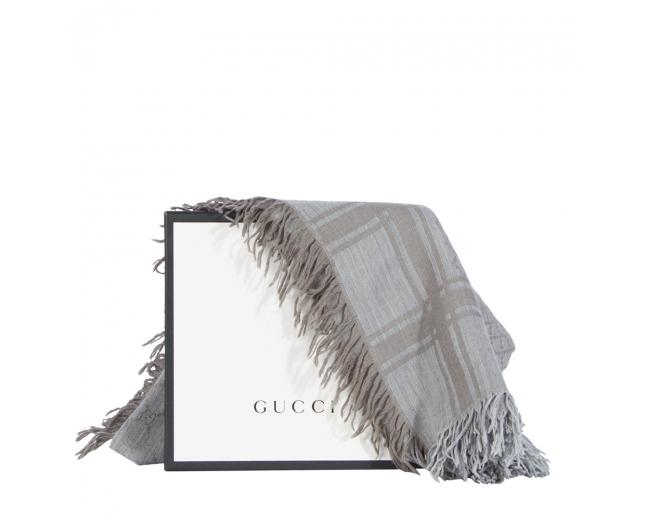 Gucci Pañuelo GG Lana y Seda