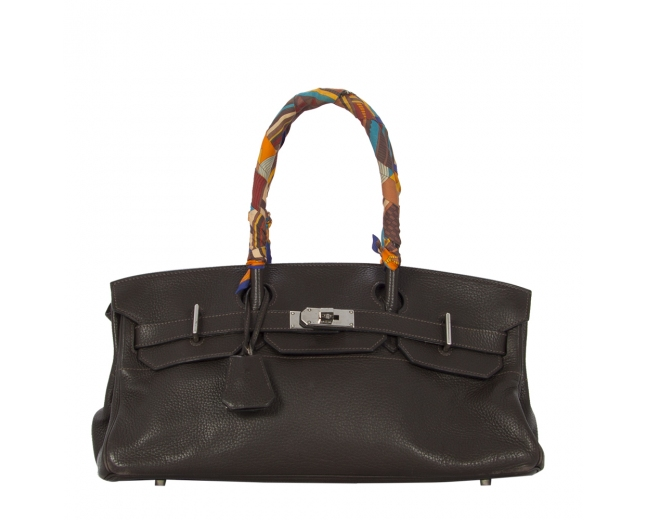 Hermès Birkin Shoulder Marrón