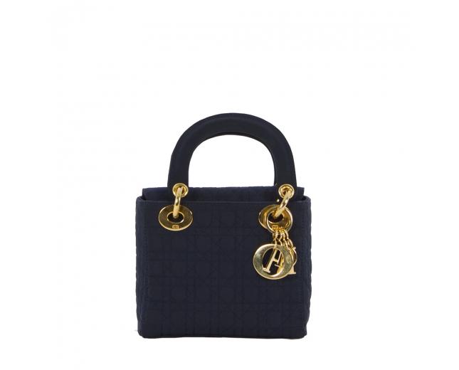 Dior Mini Lady Nylon Azul