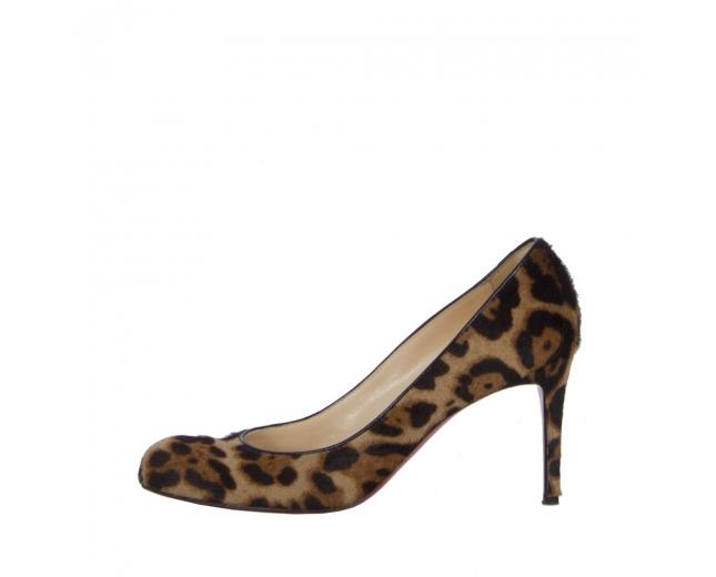 Louboutin Zapatos Salón Leopardo T 40