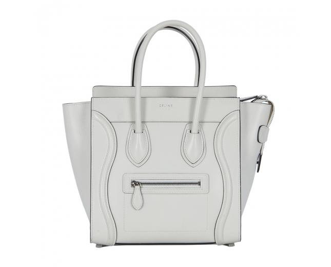Celine Mini Luggage Blanco