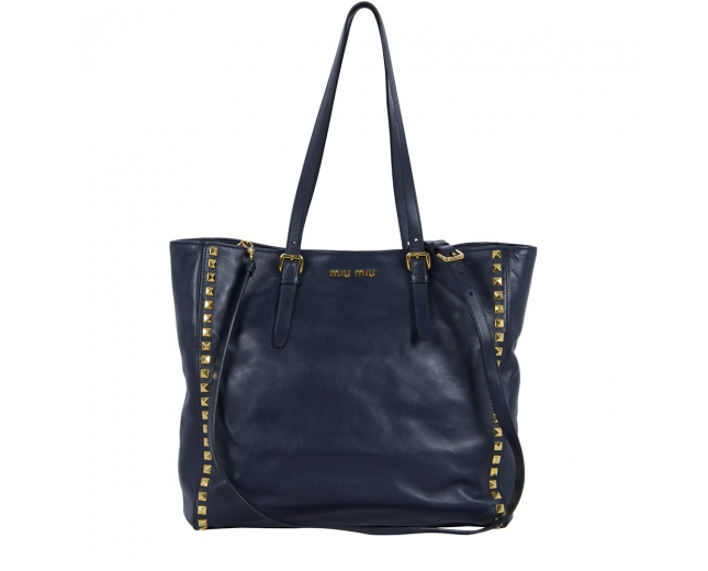 Miu Miu Bolso Shopping Azul