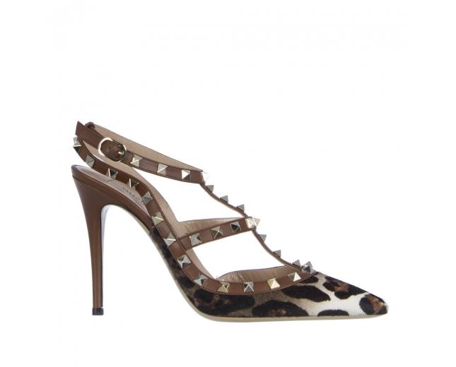 Valentino Zapatos Rockstud Leopardo 40