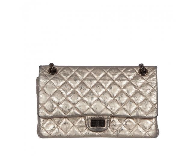 Chanel Bolso 2.55 Metalic Aged Gold
