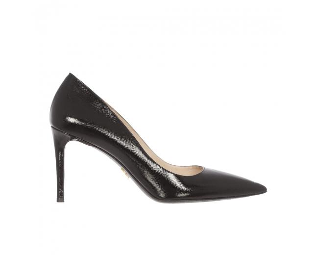 Prada Zapatos Salón Saffiano Negro 40