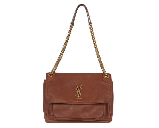 Saint Laurent Bolso Niki Mediano Marrón