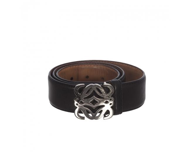 Loewe Cinturón Anagrama Negro T 85
