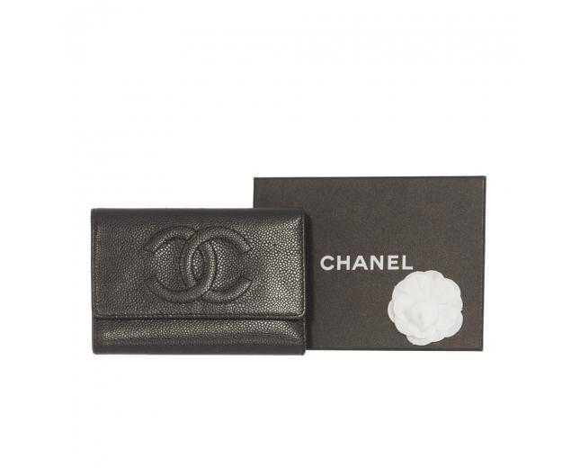 Chanel Cartera Piel Caviar Negra