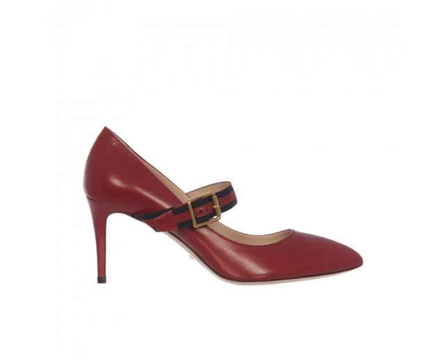 Gucci Zapatos Mary Jane Sylvie Rojos 40