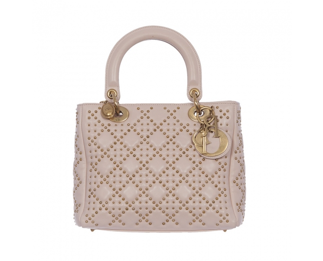 Dior Bolso Lady Dior Supple Studded
